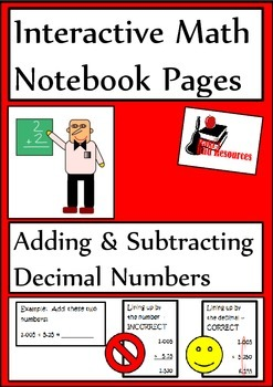 Adding and Subtracting Decimals Lesson for Interactive Mat