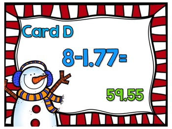 Adding and Subtracting Decimals-Looping Scavenger Hunt