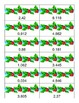 Adding and Subtracting Decimals Match - Christmas