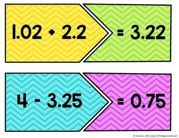 Adding and Subtracting Decimals Center