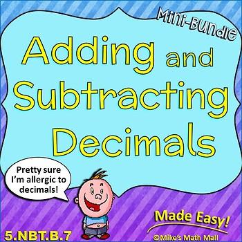 Adding and Subtracting Decimals Mini-Bundle