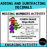 Adding and Subtracting Decimals Missing Number Activity