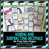 Adding and Subtracting Decimals No Prep Note Pages