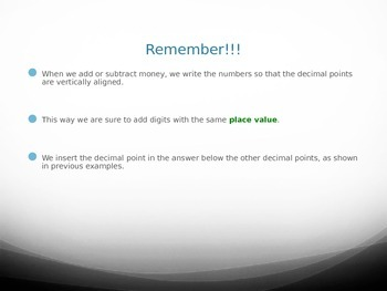 Adding and Subtracting Decimals (PPT)