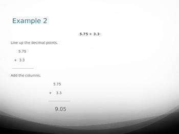 Adding and Subtracting Decimals (PPT)