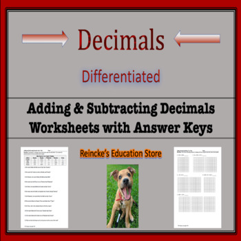 adding subtracting decimals worksheet packet - Adding And Subtracting Decimals Worksheet