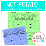 Adding and Subtracting Decimals Partner Work Template {hot potato}