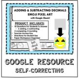 Adding and Subtracting Decimals Pixel Art w/ Google Sheets