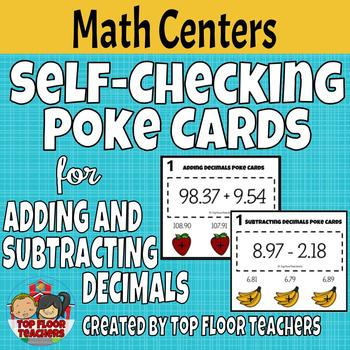 Adding and Subtracting Decimals Poke Cards