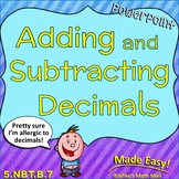 Adding and Subtracting Decimals (PowerPoint Only)
