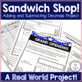 Adding and Subtracting Decimals Project Distance Learning