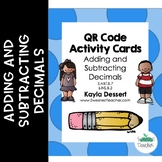 Adding and Subtracting Decimals QR Code Activity Cards