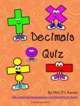 Decimals Quiz