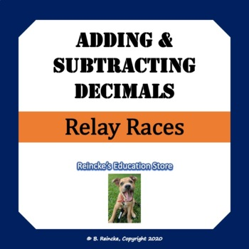 Adding and Subtracting Decimals Relay Races