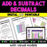 Adding and Subtracting Decimals Resource Bundle {Digital &