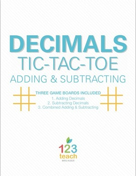 Adding and Subtracting Decimals Review Activity - Partner