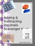 Adding and Subtracting Decimals Scavenger Hunt