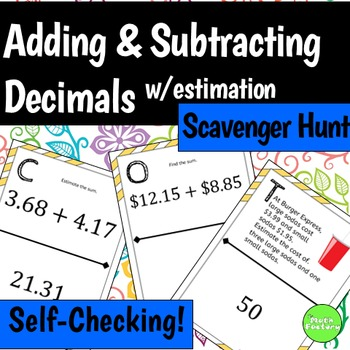 Estimating Sums And Differences With Decimals Teaching Resources ...