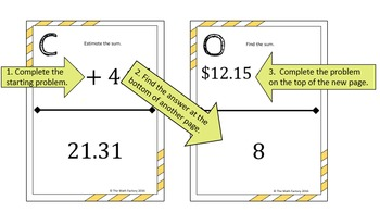 Adding and Subtracting Decimals Scavenger Hunt Activity