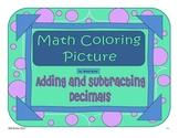 Adding and Subtracting Decimals - Spider Picture