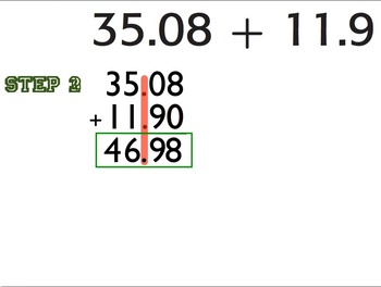 Adding and Subtracting Decimals: Teaching & Practice Keynote