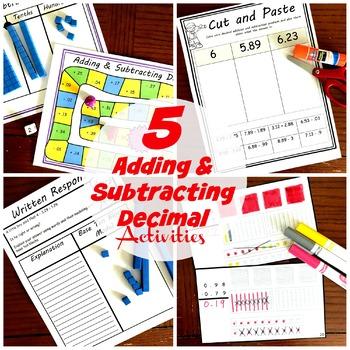 Adding and Subtracting Decimals Using Base Ten Blocks