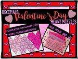Adding and Subtracting Decimals Valentine's Day Heart Puzz