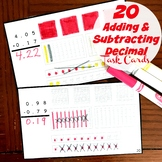 Adding and Subtracting Decimals With Base Ten Blocks Task Cards