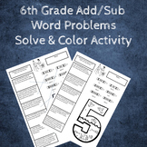 Adding and Subtracting Decimals Word Problems Coloring Activity