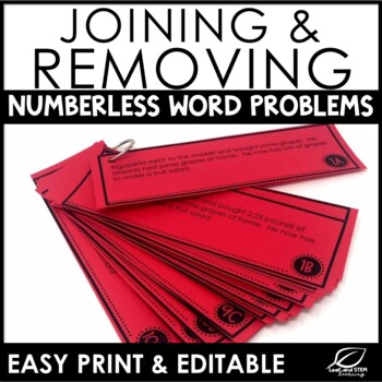 Adding and Subtracting Decimals Word Problems {Numberless Word Problems}