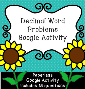 Adding and Subtracting Decimals Word Problems: Paperless