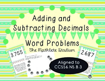 Adding and Subtracting Decimals Word Problems Scavenger Hunt