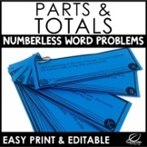 Adding and Subtracting Decimals Word Problems Set 2 {Numberless Word Problems}