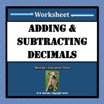 adding and subtracting decimals worksheet teaching resources  adding and subtracting decimals worksheet adding and subtracting decimals  worksheet