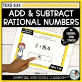 Adding and Subtracting Decimals and Fractions   Boom Cards