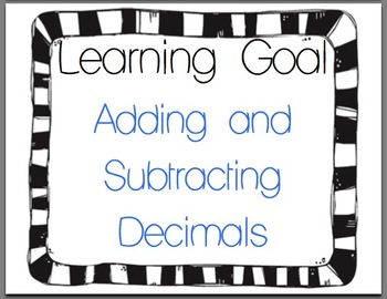Adding and Subtracting Decimals for 5th Grade