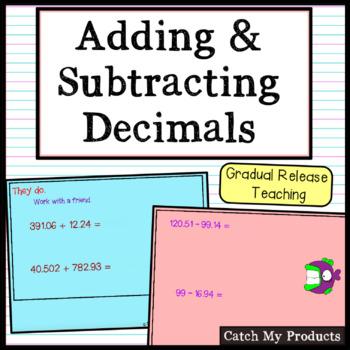 Adding and Subtracting Decimals for Promethean Board