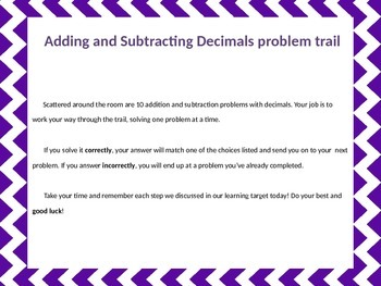 Adding and Subtracting Decimals (tenths and hundredths)