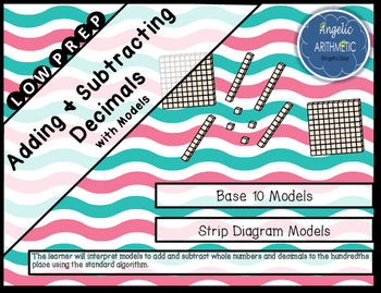 Adding and Subtracting Decimals with Models