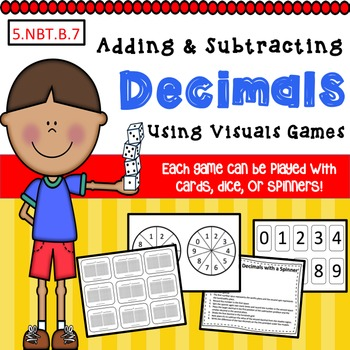 Adding and Subtracting Decimals with Visuals Games