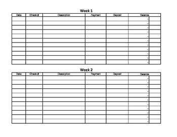 Adding and Subtracting Decimals with a Checkbook Register