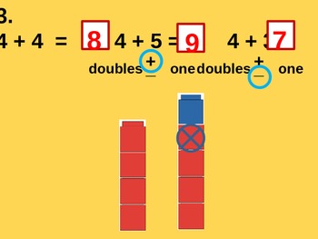 Adding and Subtracting Doubles Plus 1 and Doubles Minus 1 for Visual Learners