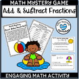Adding and Subtracting Fractions With Unlike Denominators Game
