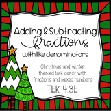 Adding and Subtracting Fraction (Like Denominators) Task C