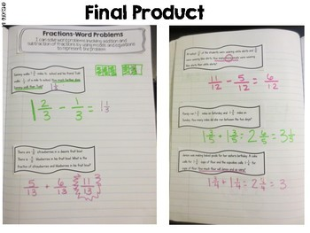 Adding and Subtracting Fraction Word Problems
