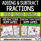 Adding and Subtracting Fractions and Mixed Numbers Games Bundle {4.B.3, 5.A.1}