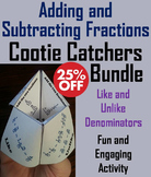 Adding and Subtracting Fractions Games Bundle for 4th, 5th, 6th, 7th Grade
