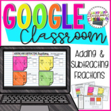 5.NF.A.1 Adding and Subtracting Fractions for Google Classroom