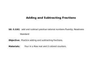 Adding and Subtracting Fractions 5.3K, 5.NF.1