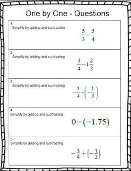 Adding and Subtracting Fractions – 7th Grade Rational Numbers